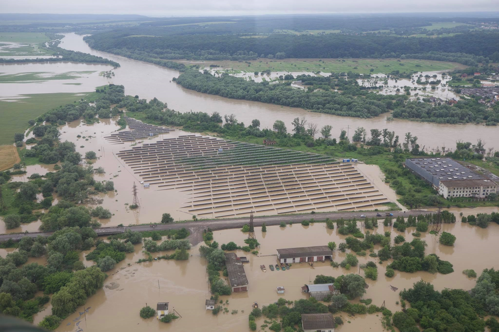 Extensive flooding in western Ukraine, June 2020.