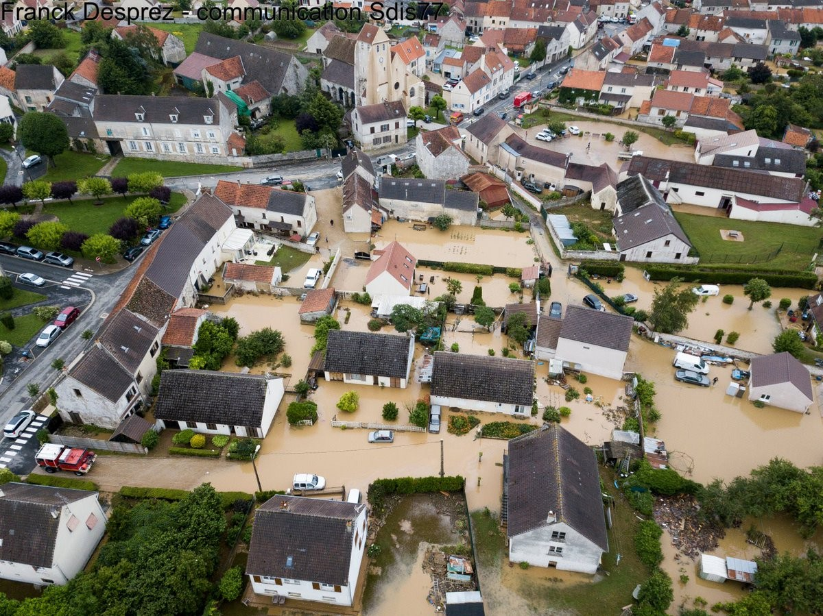 Flooding in Seine-et-Marne, France, 12 June 2018. Credit: Franck Desprez.