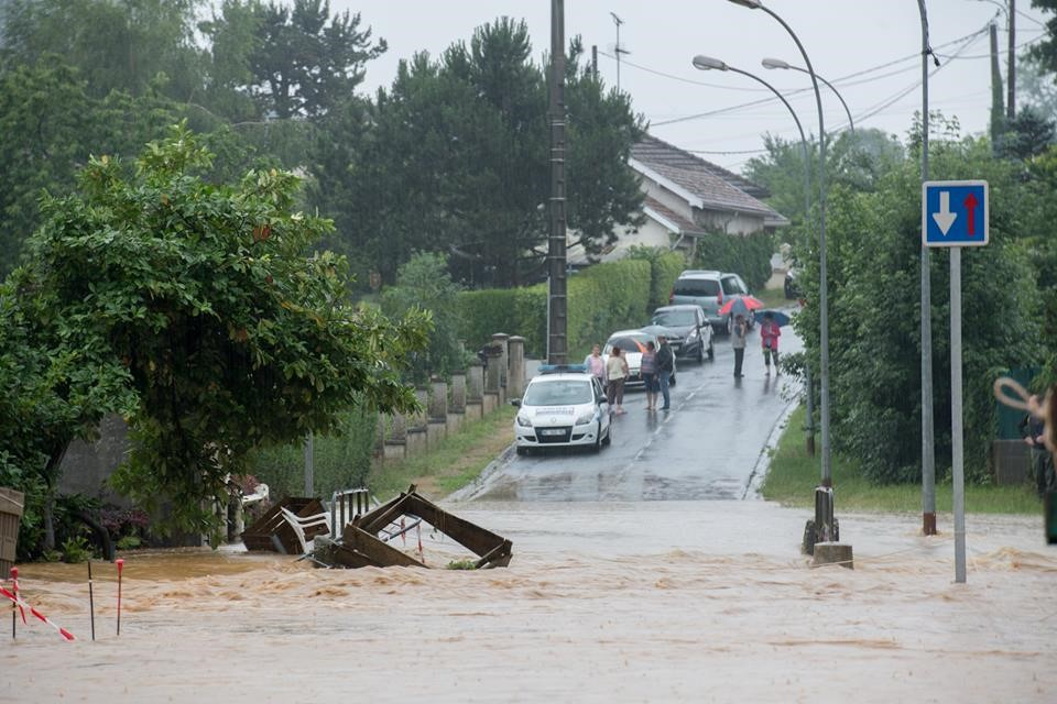 Flooding in Sedan, Ardennes department, France, 11 June 2018. Credit: Philippe Lenoble (used with permission)
