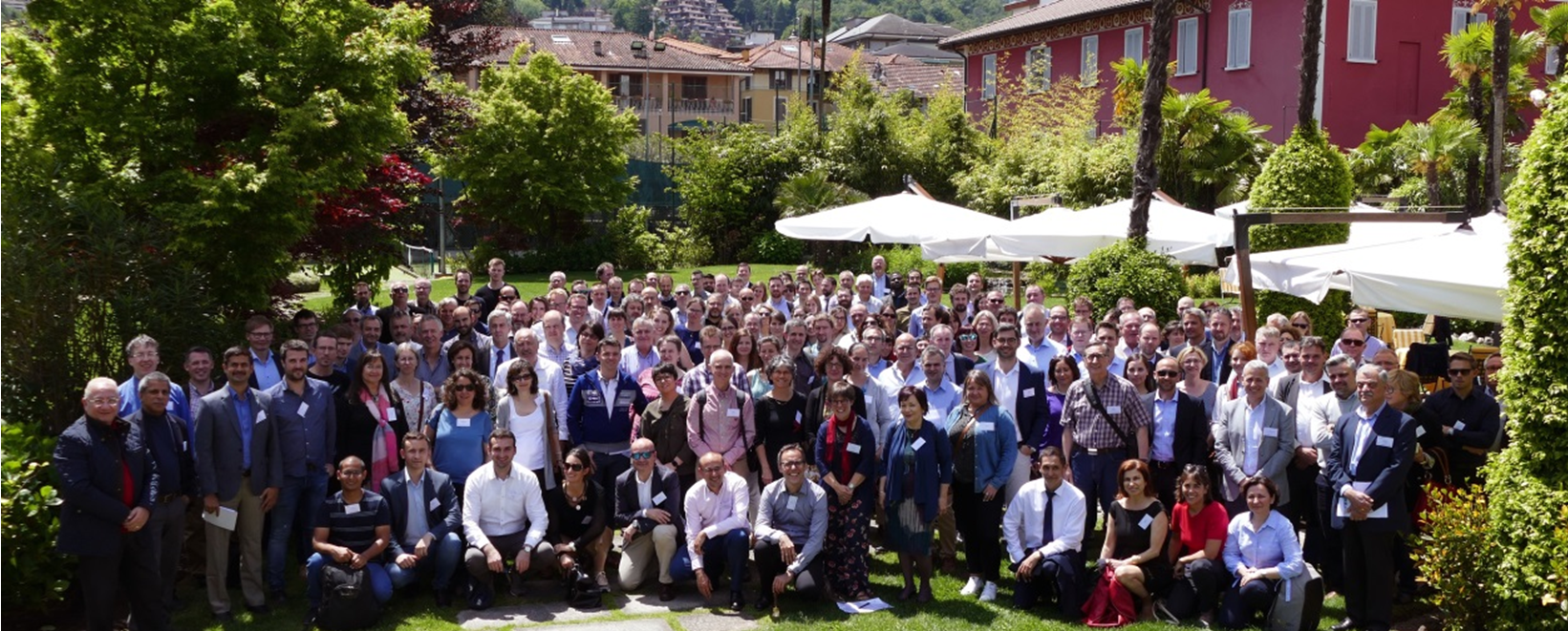 Participants of the Copernicus Emergency Management Service Annual Meeting, Stresa, Italy (Photo courtesy of Stéphane Ourevitch).