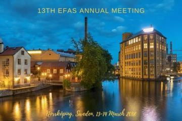 13th EFAS annual meeting - Norrköping, Sweden, 13-14 March 2018