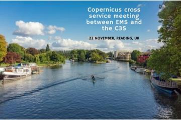 Copernicus cross service meeting between EMS and the C3S, 22 November, Reading, UK