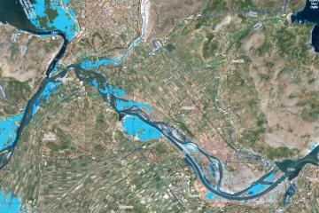 Caption: Floods in Shkodër (Scutari), Albania, 18 March 2018. Credit: Copernicus.