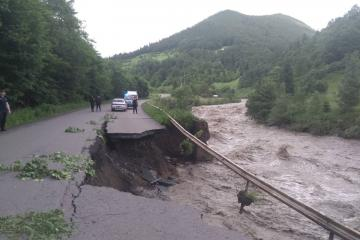 A flood damaged bridge in western Ukraine, June 2020. Source: National State Emergency Service of Ukraine