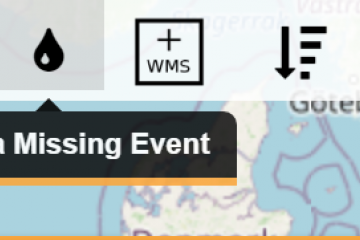 To report a missing event in EFAS - click the icon in the top right corner of the map viewer.